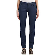 Buy Calvin Klein Mid Rise Slim Jeans, Dark Eighties Blue Stretch Online at johnlewis.com