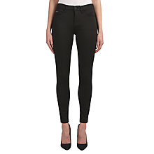Buy Calvin Klein High Rise Skinny Jeans, Pop Black Stretch Online at johnlewis.com