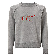 Buy Selected Femme Irene Printed Sweatshirt, Grey Online at johnlewis.com