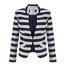 Buy Helene For Denim Wardrobe Notch Collar Jacket, Tiziana Wide Stripe Online at johnlewis.com