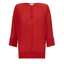 Buy Selected Femme Enni Layering Top, Pompeian Red Online at johnlewis.com