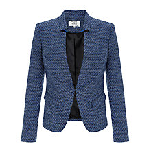 Buy Helene For Denim Wardrobe Notch Collar Jacket, Navy Dorian Online at johnlewis.com