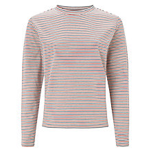 Buy Selected Femme Jineen Stripe Jersey Top, Multi Online at johnlewis.com