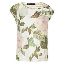 Buy Oui Floral Print T-Shirt, Multi Online at johnlewis.com