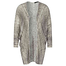 Buy Oui Snake Print Cardigan, Light Stone/Grey Online at johnlewis.com