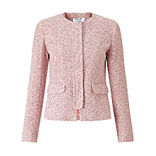 Buy Helene For Denim Wardrobe Concealed Zip Front Jacket, Pink Denny Online at johnlewis.com