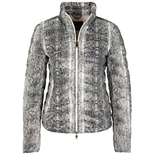 Buy Oui Ribbed Snake Print Jacket, White/Grey Online at johnlewis.com