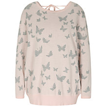 Buy Oui Butterfly Jacquard Jumper, Rose/Grey Online at johnlewis.com