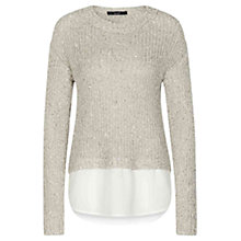 Buy Oui Fancy Sequin Jumper, Light Stone/Grey Online at johnlewis.com