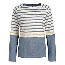 Buy Seasalt Little Grebe Stripe Smock, Midday Tide Natural Online at johnlewis.com