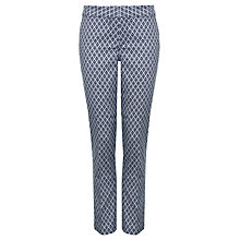 Buy NYDJ Corynna Jacquard Ankle Skinny Trousers, Blue Online at johnlewis.com