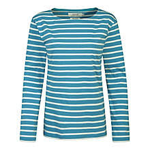 Buy Seasalt Sailor Jersey Top, Poseidon/Ecru Online at johnlewis.com