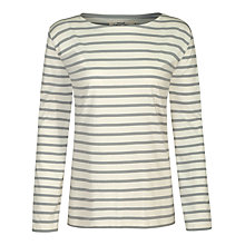 Buy Seasalt Sailor Jersey Top, Ecru/Cobble Online at johnlewis.com