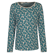 Buy Seasalt Warwick Reversible Top, Oyster Dredger Hessian Online at johnlewis.com
