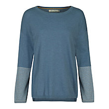 Buy Seasalt Kaolin Jumper, Cuff Stripe Schooner Online at johnlewis.com