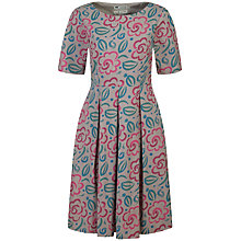 Buy Seasalt Talland Dress, Brushwork Flower Gravel Online at johnlewis.com