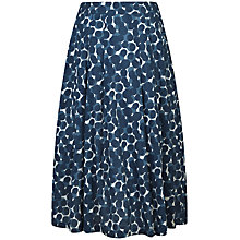 Buy Seasalt Sea Mist Midi Skirt, Glaze Spot Ecru Online at johnlewis.com