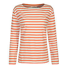Buy Seasalt Sailor Jersey Top, Satsuma/Ecru Online at johnlewis.com