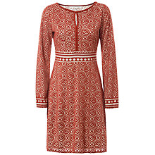 Buy Max Studio Long Sleeve Devore Dress, Terracotta Online at johnlewis.com