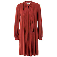 Buy Max Studio Tie Neck Pleated Jersey Dress Online at johnlewis.com