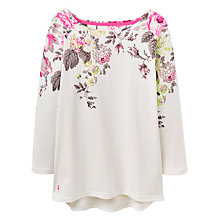 Buy Joules Harbour Print Jersey Top, Cream/Posy Online at johnlewis.com