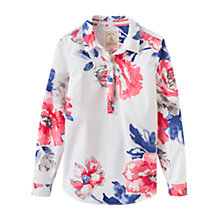 Buy Joules Clovelly Floral Pop Over Shirt, Bright White Rose Online at johnlewis.com
