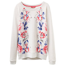 Buy Joules Irene Rose Print Sweatshirt, Cream/Marl Online at johnlewis.com
