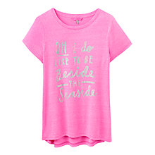 Buy Joules Eva Beside The Seaside Graphic T-Shirt, Neon Candy Online at johnlewis.com