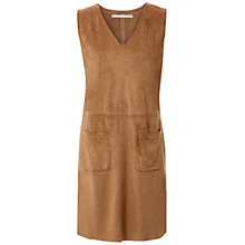 Buy Max Studio Sleeveless Suedette Dress, Vicuna Online at johnlewis.com