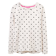 Buy Joules Irene Spotted Print Sweatshirt, Oat Marl Spot Online at johnlewis.com