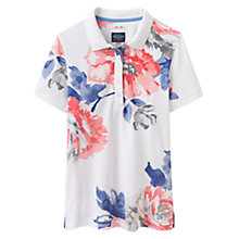 Buy Joules Trinity Slim Fit Floral Print Polo Shirt, Bright White Rose Online at johnlewis.com