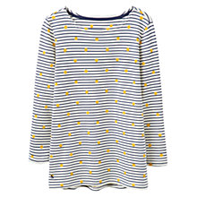 Buy Joules Harbour Print Jersey Top, Porcelain Spot Stripe Online at johnlewis.com
