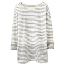 Buy Joules Devon Stripe Colour Block Jersey Top, Grey Marl Stripe Online at johnlewis.com