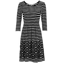 Buy Max Studio Stripe Jersey Dress, Black/White Online at johnlewis.com