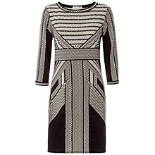 Buy Max Studio Deco Palm Print Dress, Black/White Online at johnlewis.com