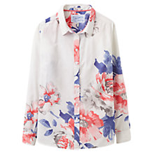 Buy Joules Maywell Rose Print Shirt, Bright White/Rose Online at johnlewis.com
