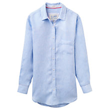 Buy Joules Tippi Oversized Linen Shirt, Light Blue Chambray Online at johnlewis.com