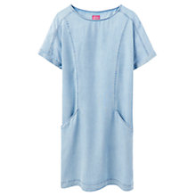 Buy Joules Elise Tunic Dress, Washed Chambray Online at johnlewis.com