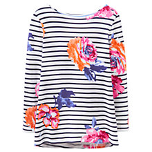 Buy Joules Harbour Print Jersey Top, Rose Stripe Online at johnlewis.com