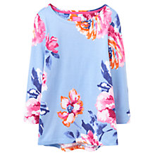 Buy Joules Harbour Print Jersey Top, Haze Blue Rose Online at johnlewis.com