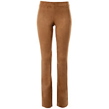 Buy Max Studio Suedette Bootcut Trousers, Vicuna Online at johnlewis.com