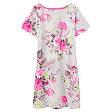 Buy Joules Riviera Jersey T-Shirt Dress, Grey Posy Online at johnlewis.com