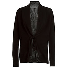 Buy Max Studio Tie Neck Cardigan, Black Online at johnlewis.com