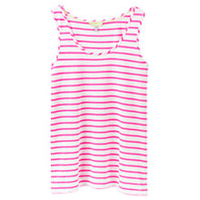 Buy Joules Coco Relaxed Fit Jersey Vest, Bright White Neon Stripe Online at johnlewis.com