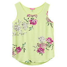 Buy Joules Iris Floral Print Top, Lime Floral Online at johnlewis.com