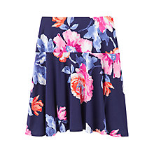 Buy Joules Hailey Floral Jersey Skirt, Navy Rose Online at johnlewis.com