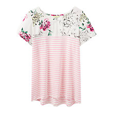 Buy Joules Suzy Jersey T-Shirt, Pink Sherbet Stripe Online at johnlewis.com