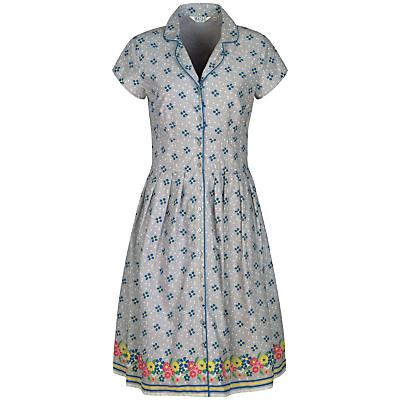 Seasalt Lottie Dress Confetti Flowers Cobble £59.95 AT vintagedancer.com