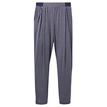 Buy Joules Sutton Jersey Printed Trousers, Navy Anchor Geo Online at johnlewis.com