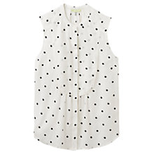 Buy Joules Suki Spot Print Top, Black Spot Online at johnlewis.com